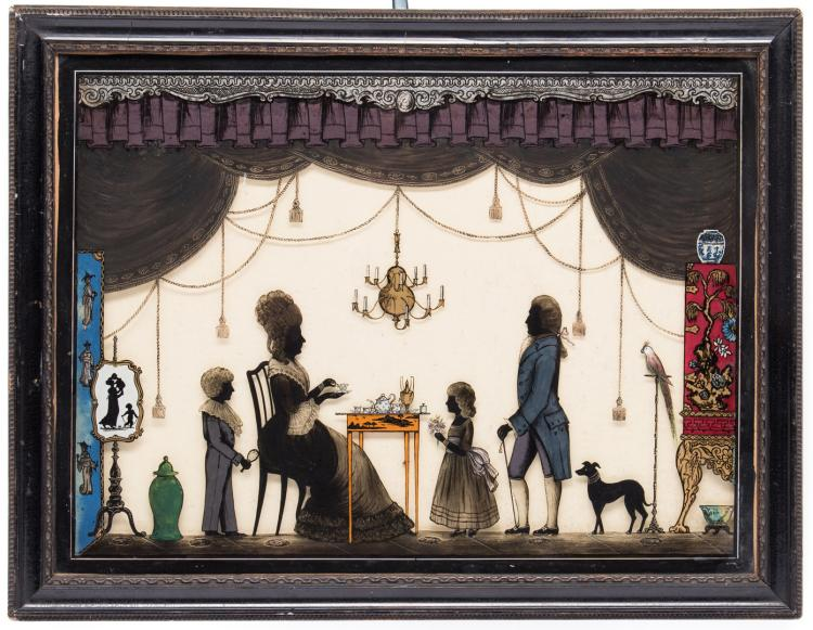 Victorian Silhouette Reverse Painting