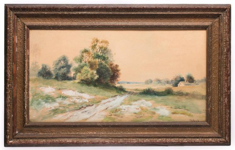 Deland Watercolor Landscape