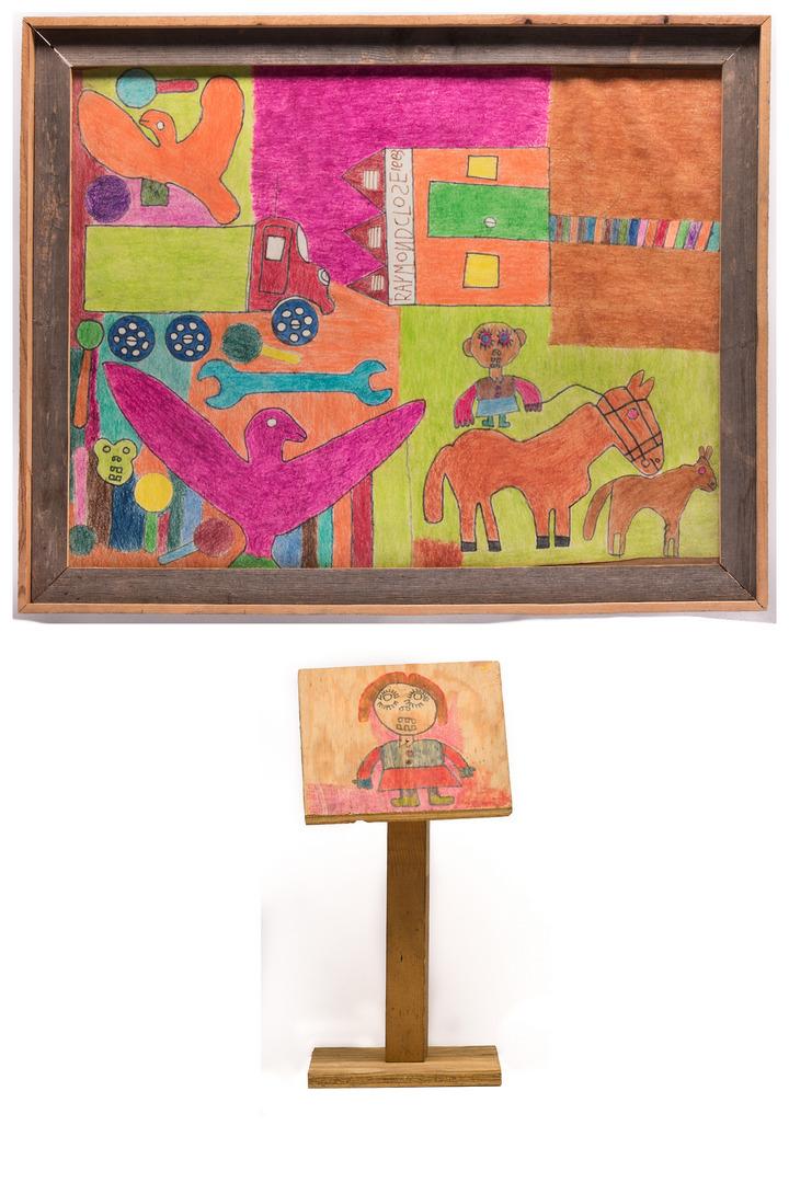 2 Raymond Close Folk Art Items
