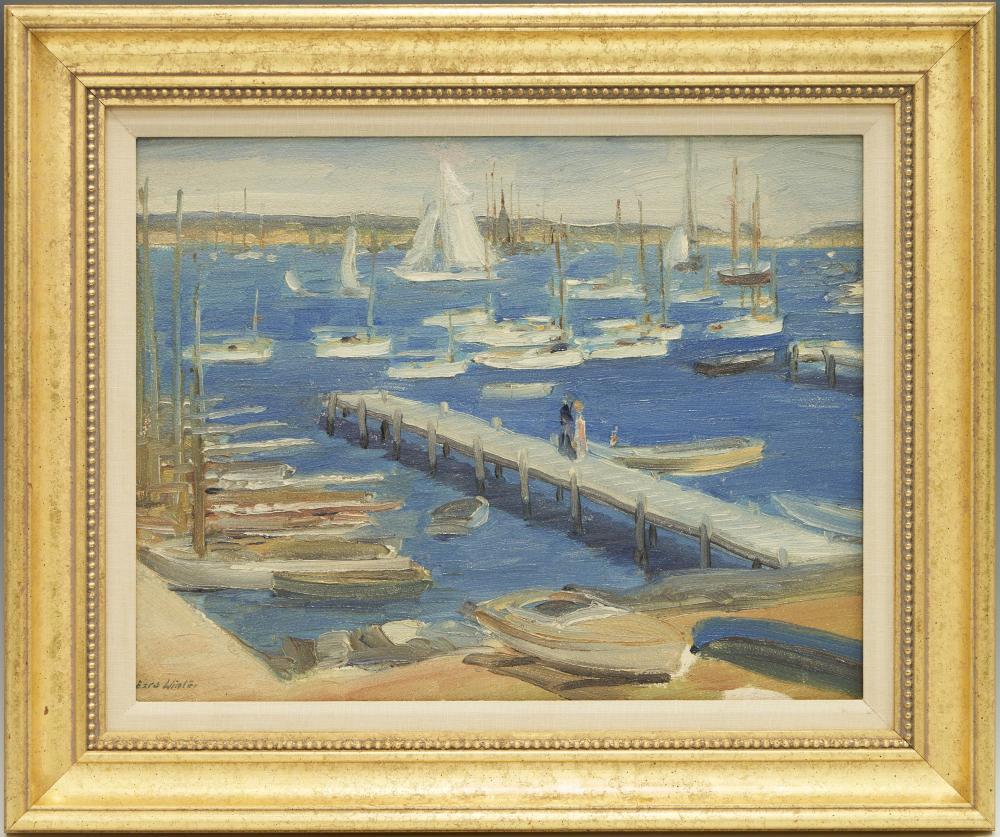 Ezra Augustus Winter O/B, Harbor at Martha's Vineyard