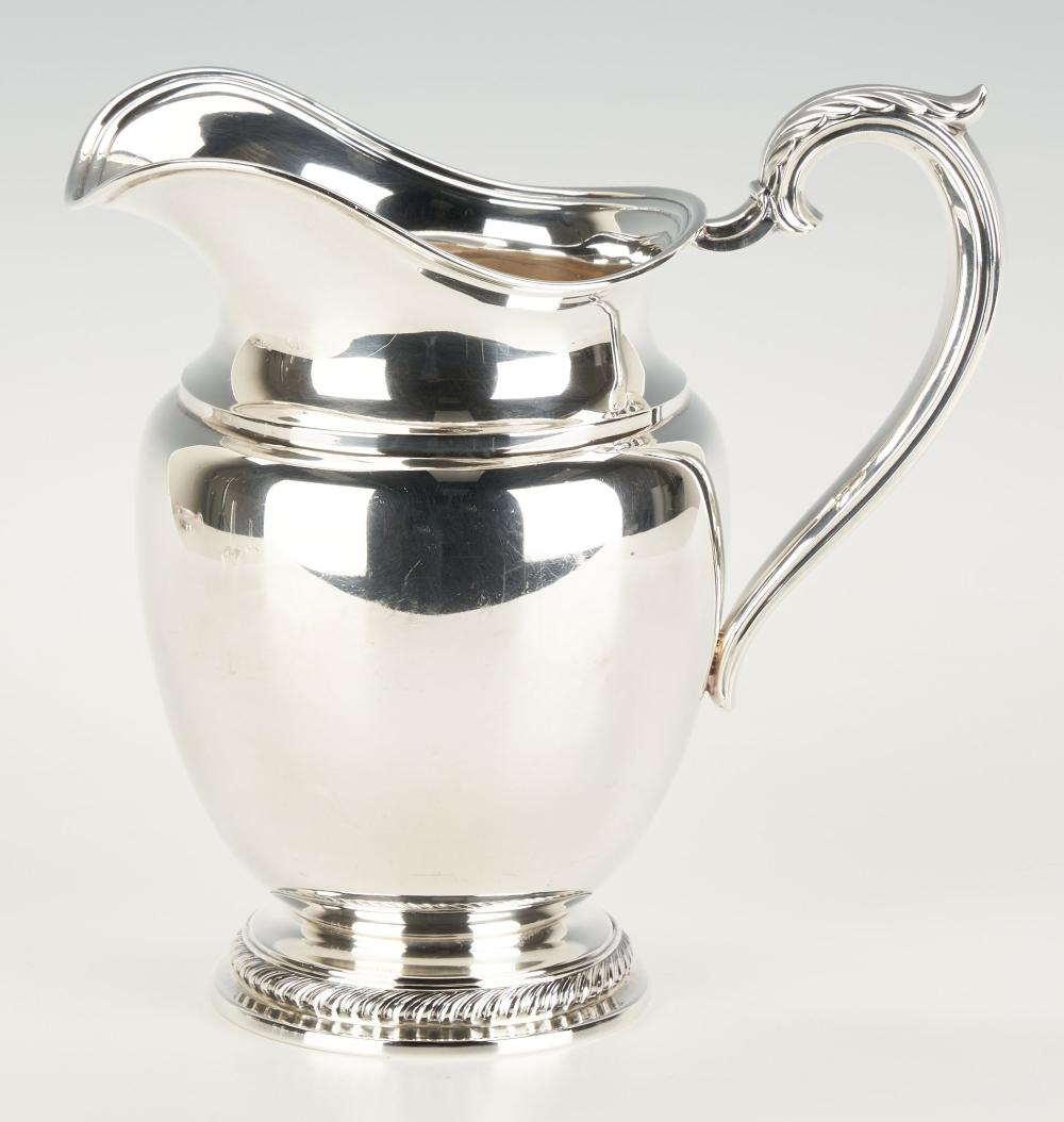 Wm. Rogers Sterling Silver Water Pitcher