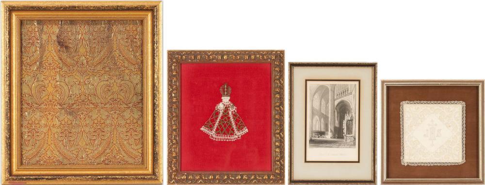 4 Religious Items, incl. Textiles