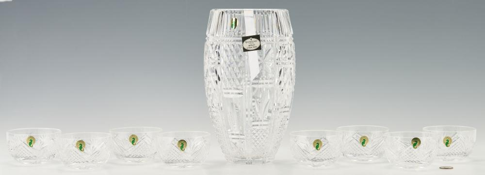 9 Waterford Crystal Items, incl. Vase, Finger Bowls