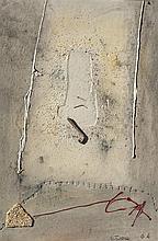Leopoldo Novoa (1919-2012), Abstract. Mixed technique on cardboard.