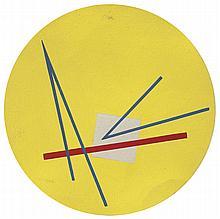 José Pedro Costigliolo (1902-1985), Linea roja. Tempera on pasteboard.