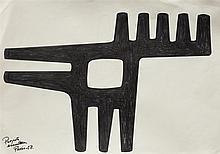 María Freire (1917-2015), Proyecto para escultura. Ink on paper.
