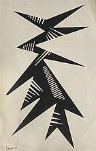 María Freire (1917-2015), Forma dinámica. Tempera on paper.
