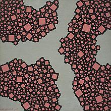 José Pedro Costigliolo (1902-1985), Rosado. Acrylic on cardboard.