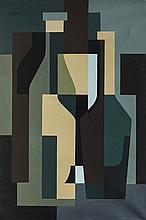 José Pedro Costigliolo (1902-1985), Abstraction. Oil on canvas.