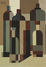 José Pedro Costigliolo (1902-1985), Abstracción. Oil on fiber.