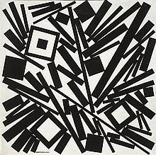 José Pedro Costigliolo (1902-1985),Rectángulos y cuadrados en fondo blanco. Oil on canvas.