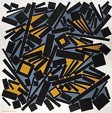 José Pedro Costigliolo (1902-1985), Rectángulos y cuadrados MXII. Oil on canvas.