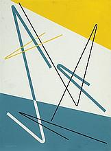 José Pedro Costigliolo (1902-1985), Composición. Enamel on fiber.