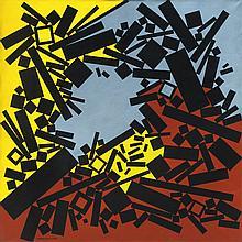José Pedro Costigliolo (1902-1985), Rectángulos y cuadrados CCCXXXIII. Acrylic on canvas.
