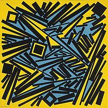 José Pedro Costigliolo (1902-1985), Rectángulos y cuadrados MMXX. Acrylic on canvas.