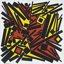 José Pedro Costigliolo (1902-1985), Rectángulos y cuadrados CCCLXIV. Acrylic on canvas.