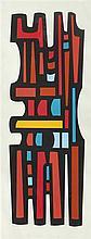 María Freire (1917-2015), América del Sur 31. Acrylic on canvas.