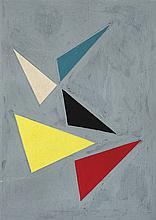 José Pedro Costigliolo (1902-1985), Triángulos. Tempera on cardboard.