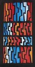 María Freire (1917-2015), Abstraction. Tempera on paper.
