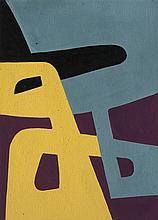 José Pedro Costigliolo (1902-1985), Dos formas. Tempera on paper.