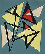 José Pedro Costigliolo (1902-1985), Triángulos. Tempera on pasteboard.