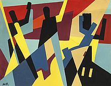 María Freire (1917-2015), Proyecto mural. Tempera on paper.