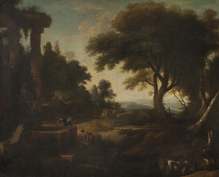 WYNDHAM- LANDSCAPE WITH PEASANTS