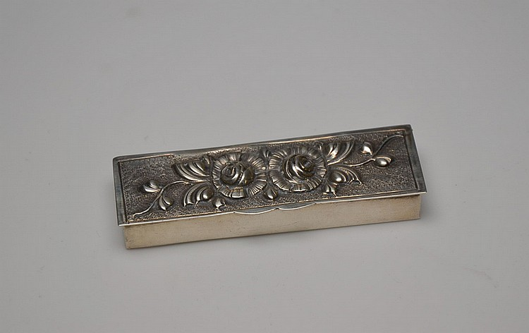 A SPANISH SILVER PILLBOX
