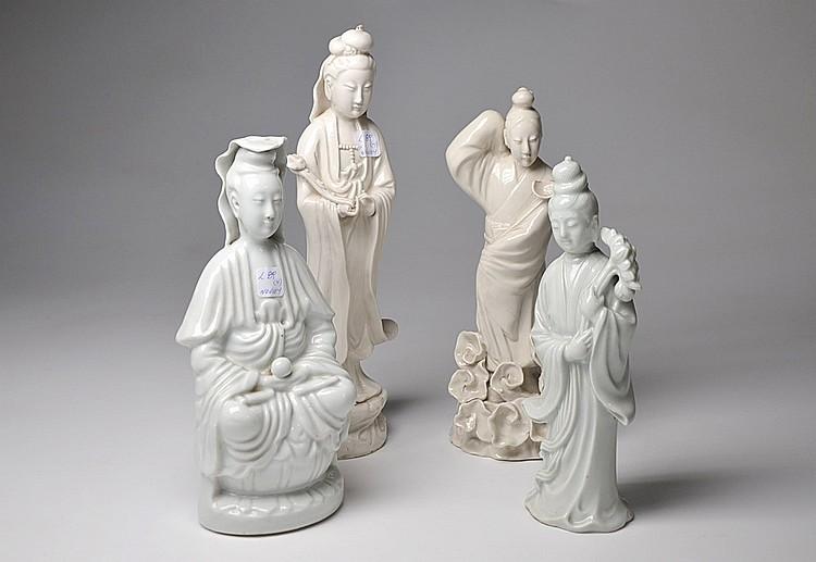 A SET OF FOUR BLANC DE CHINE FIGURES