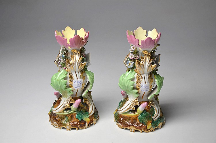 A PAIR OF FRENCH PORCELAIN VASES
