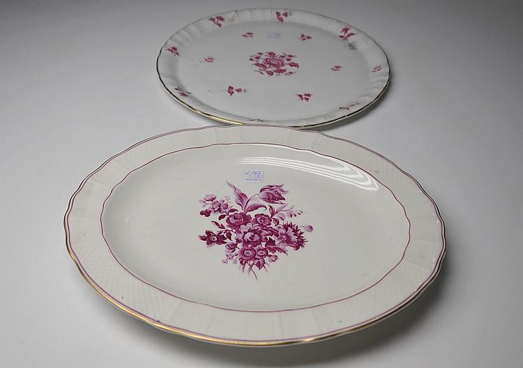 Dos piezas en porcelana Limoges,