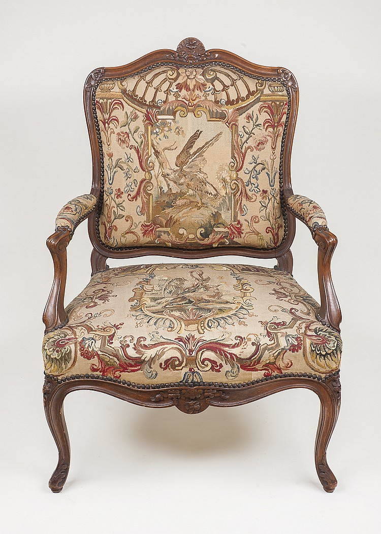 Estupenda pareja de sillones Luis XV,