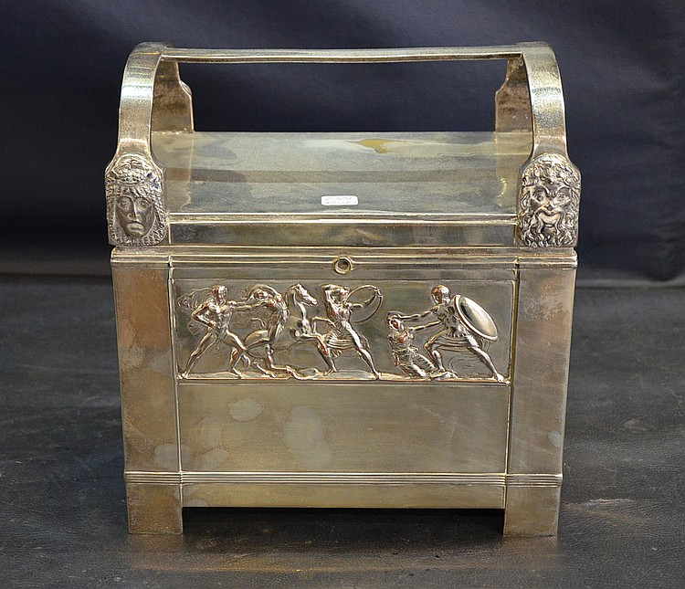 A WMF METAL JEWELRY BOX