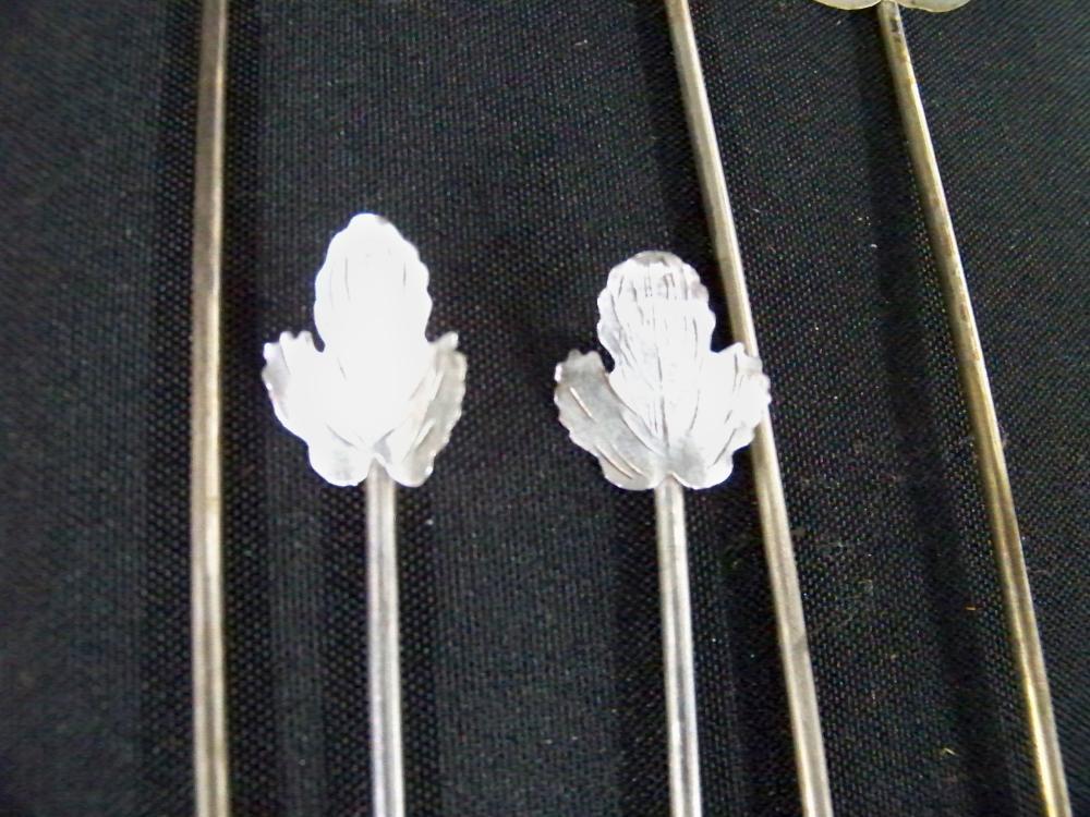Set of Ten Tiffany & Co. Sterling Silver Spoon Straws