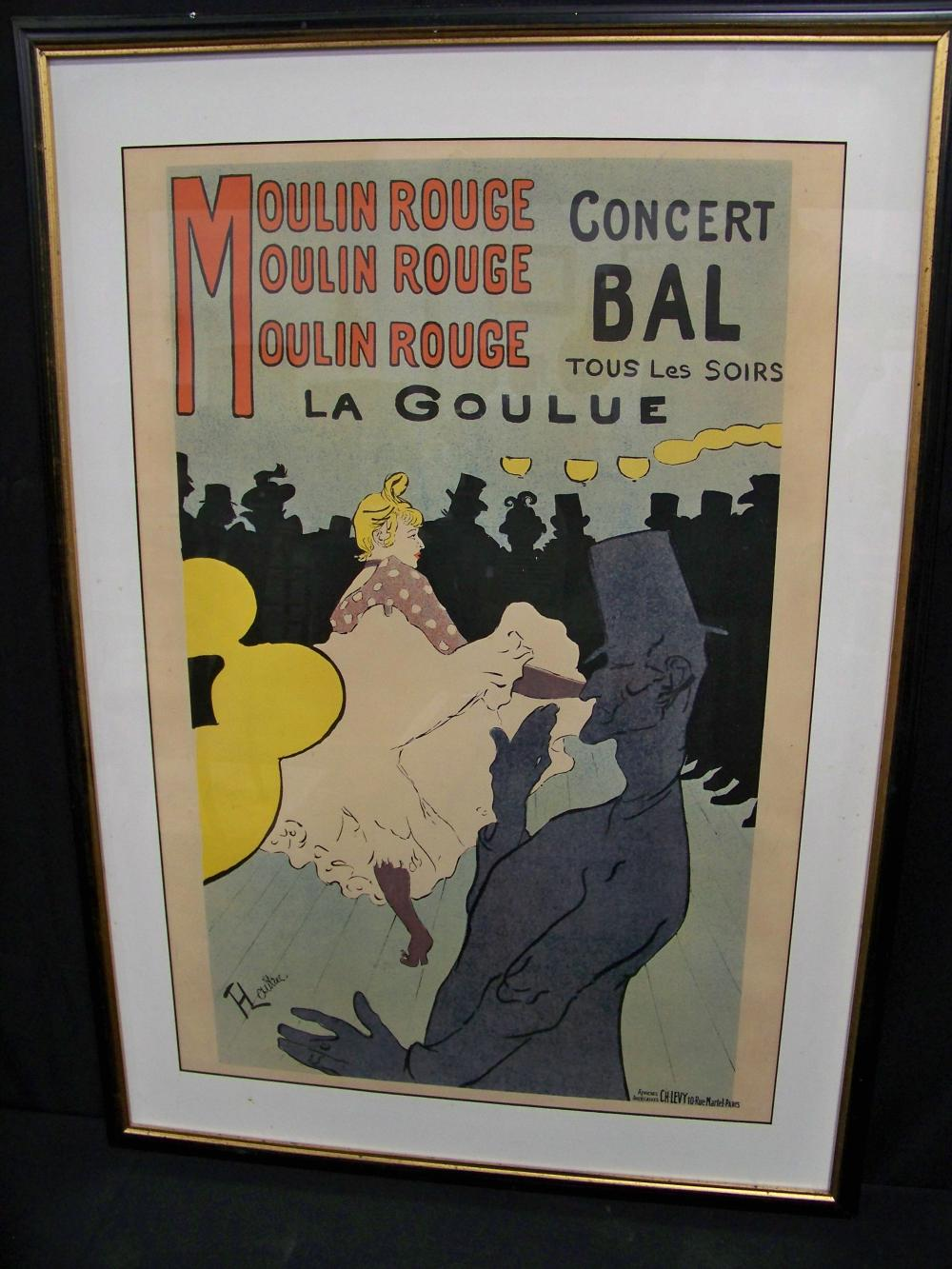 Group of Four Henri Toulouse Lautrec Framed Posters