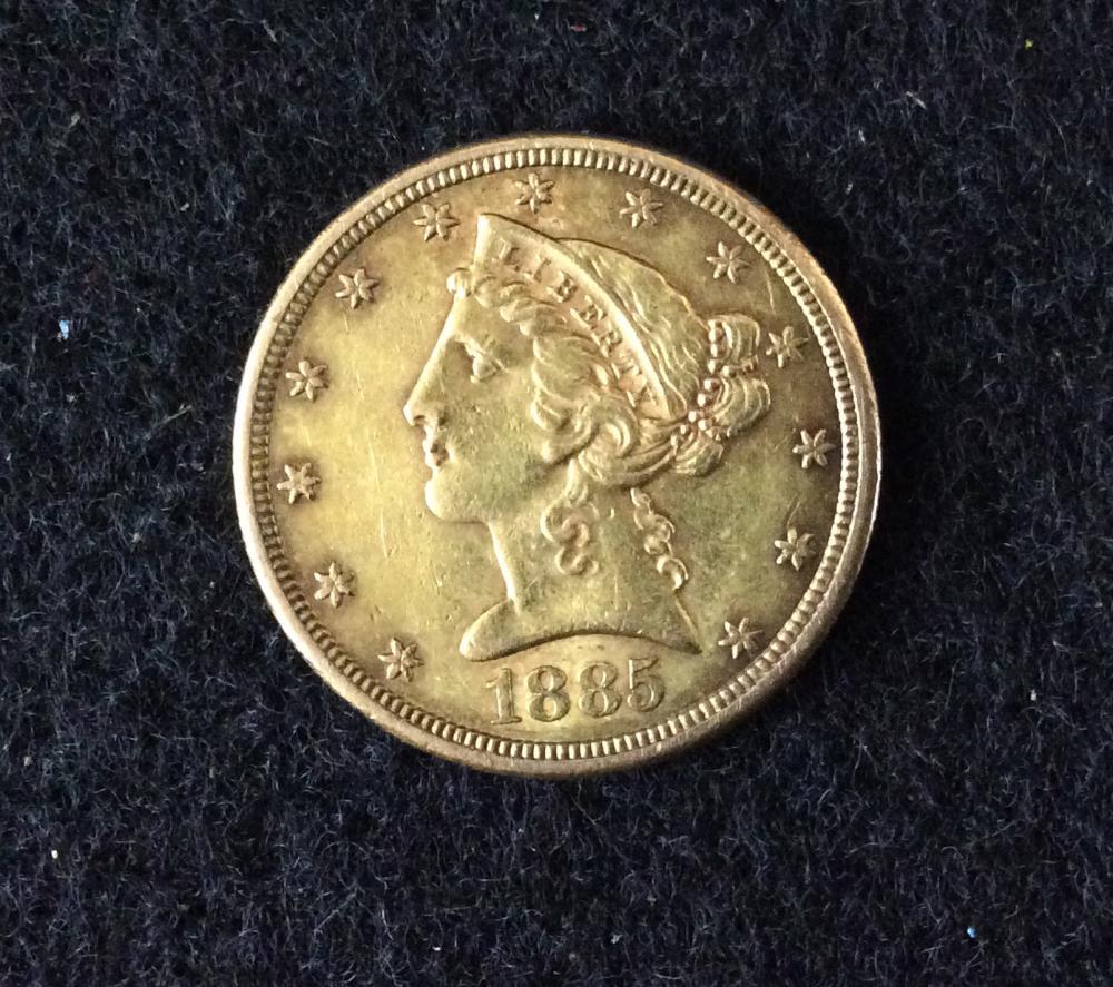 1885 U.S. Liberty $5 Gold Coin