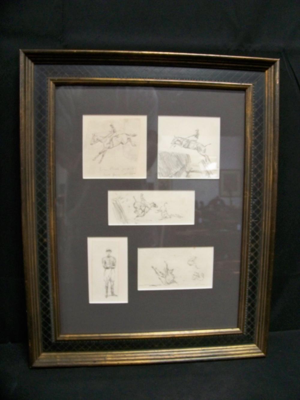 Framed Montage of Horses by Peter Biegel