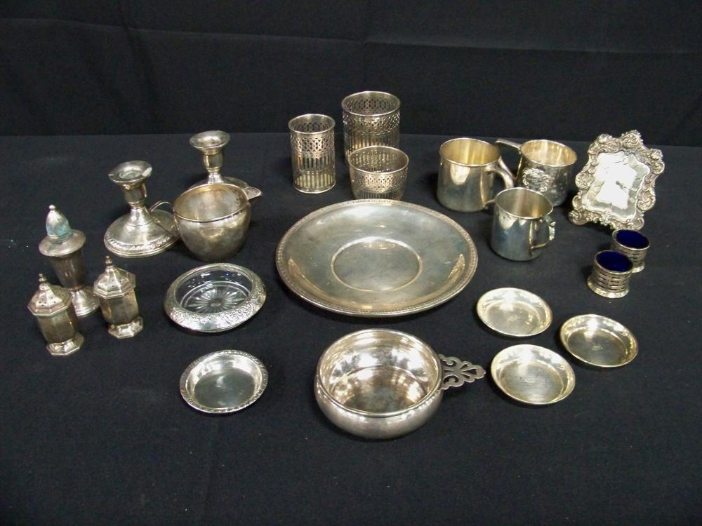 Large Group of Sterling Silver Miscellaneous Items