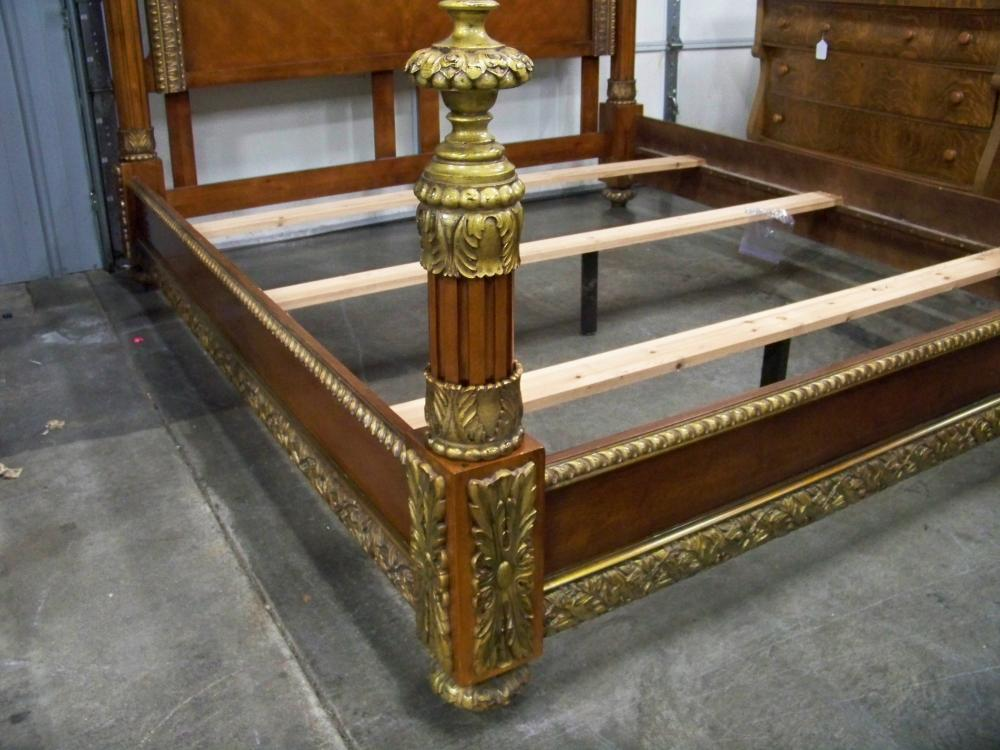 Ornate Gilt King Sized Bed by Horchow