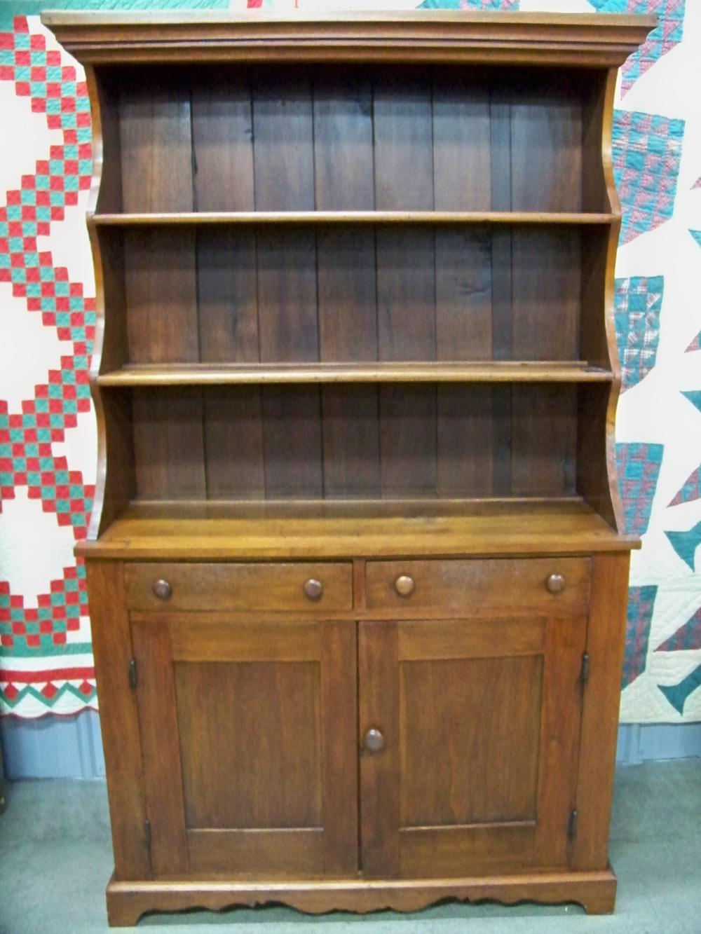 Antique Walnut Hutch in a Great Size