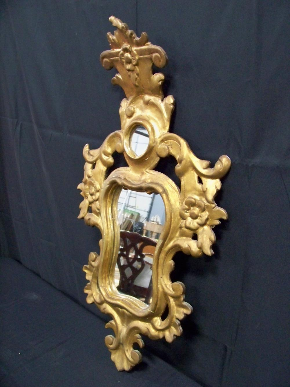 Antique Italian Venetian Giltwood Mirror