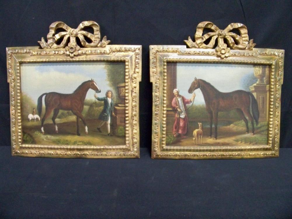 Pair of Chelsea House Horse Paintings