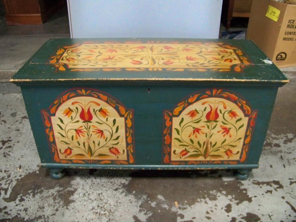 Vintage Painted Pennsylvania Blanket Box