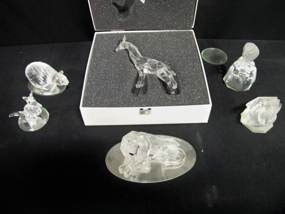 Swarovski Silver Crystal Giraffe in Original Box Plus More!