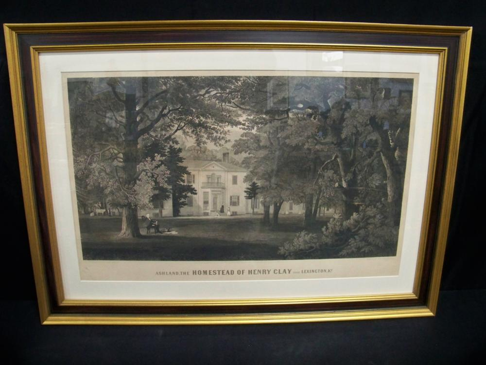 """""""Ashland, the Homestead of Henry Clay"""" by Sartain"""
