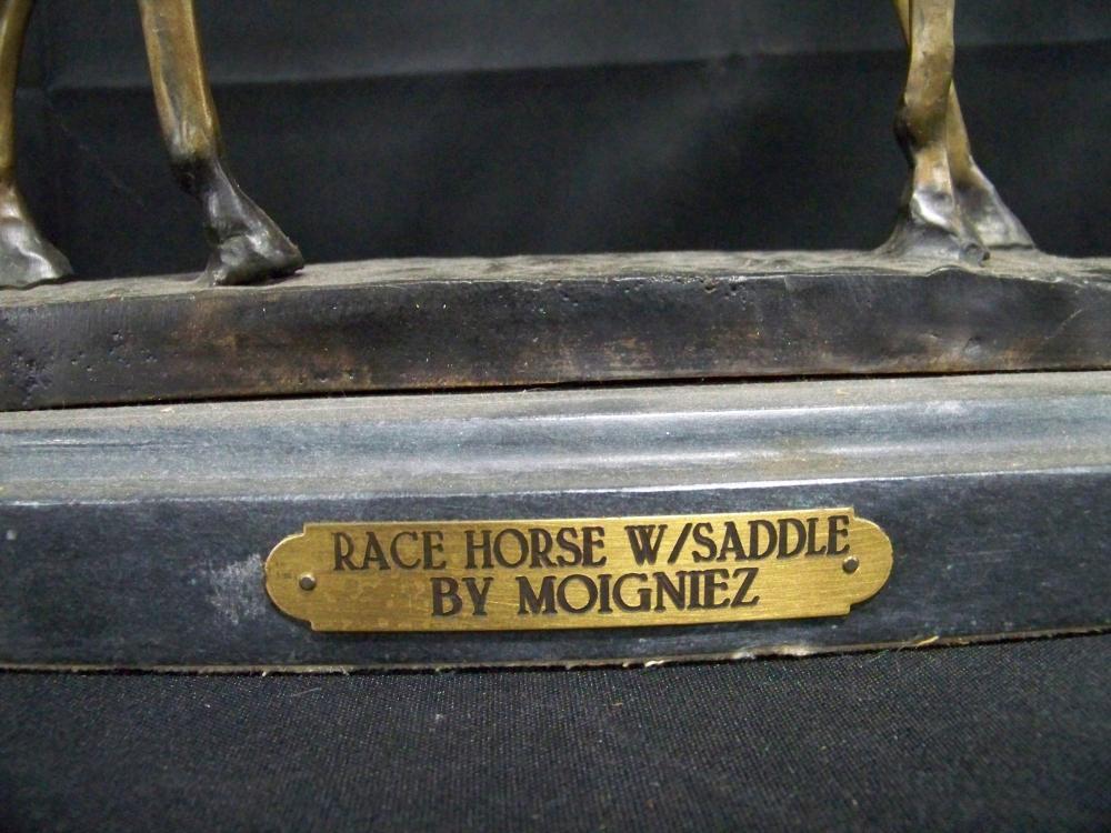 Horse Bronze on Marble Base