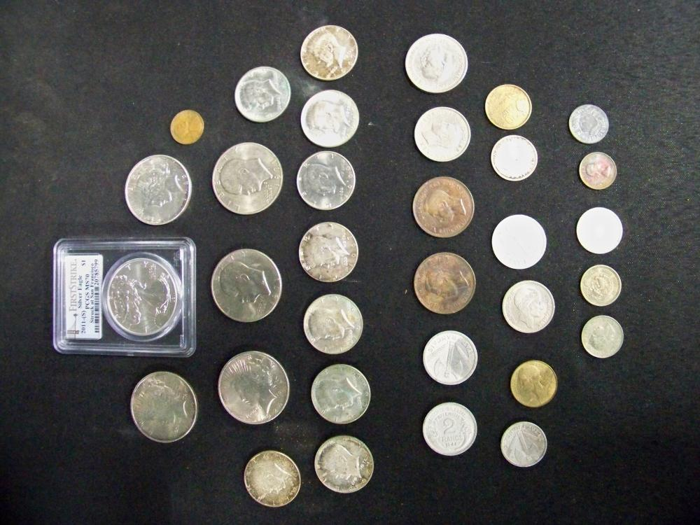 Coin Collection plus Two Arrowheads