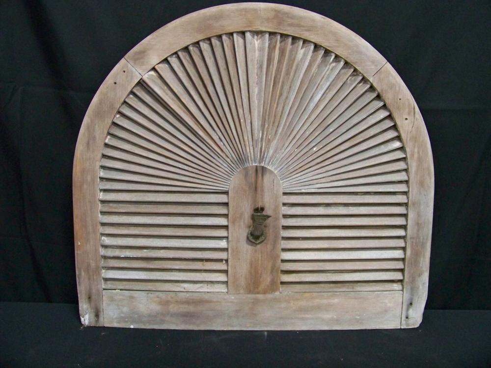 Very Nice Wooden Fanlight Shutter
