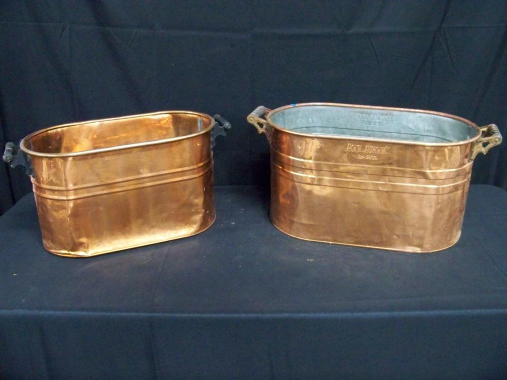Two Copper Boilers