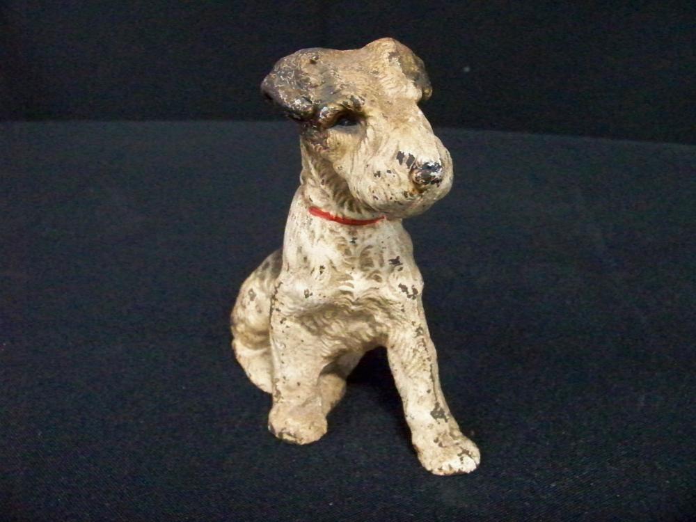 Antique Cast Iron Hand Painted Scottie Dog